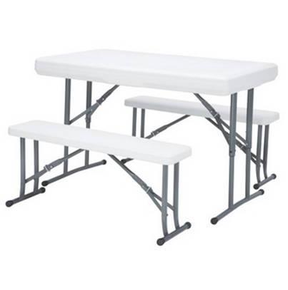 Outsunny alumiininen puutarhapöytä (musta)