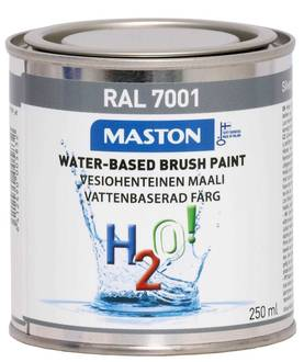 MASTON H2O HOPEANHARMAA 250ML RAL7001 - Ulkomaalit - 6412490005832 - 1