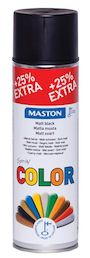 SPRAYMAALI MATTA MUSTA 500ML MASTON COLOR - Spraymaalit - 6412490024772 - 1