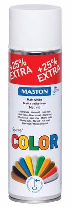 SPRAYMAALI MATTA VALKOINEN 500ML MASTON COLOR - Spraymaalit - 6412490024796 - 1