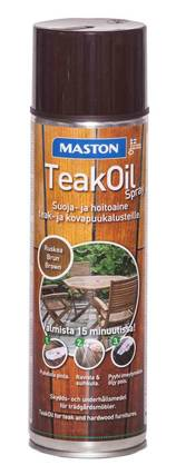 TEAK OIL SPRAY 500ML RUSKEA TIIKKIÖLJY MASTON - Puuöljyt - 6412490005658 - 1